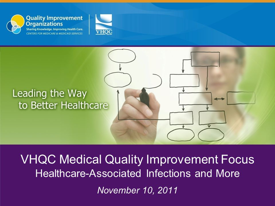 VHQC Medical Quality Improvement Focus Healthcare-Associated Infections and More November 10, 2011