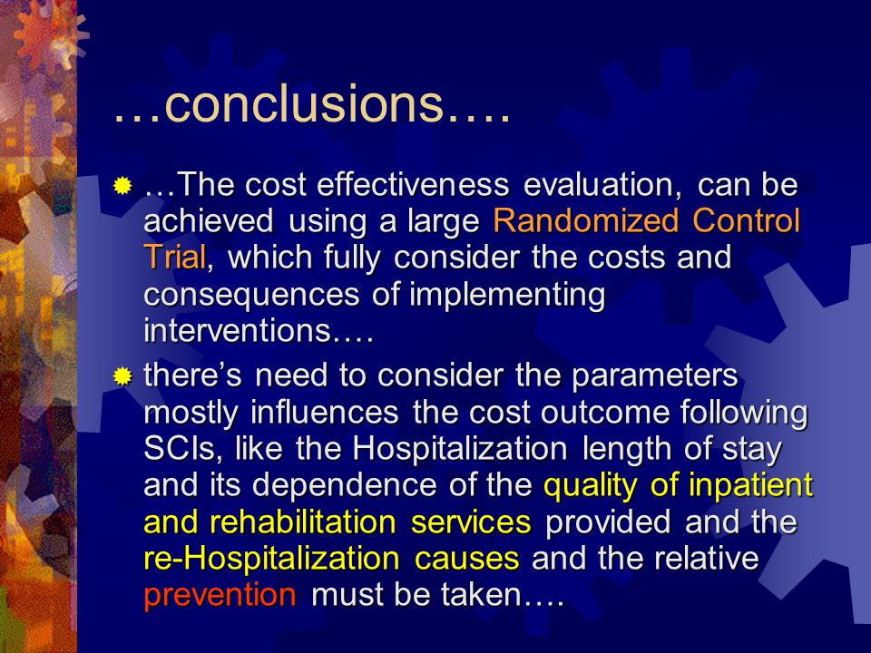 …conclusions….