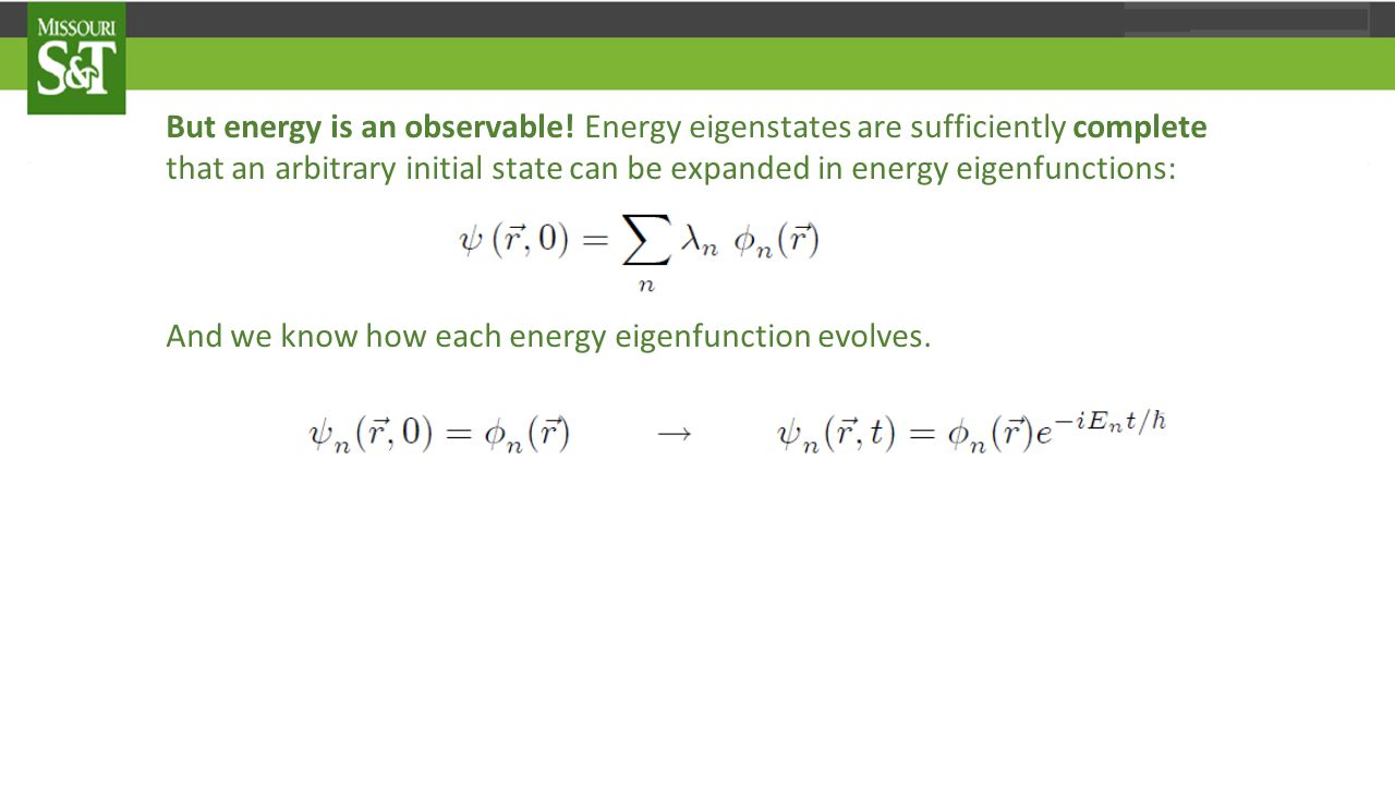 But energy is an observable.