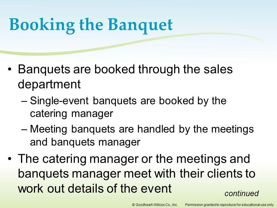 banquet manager job description
