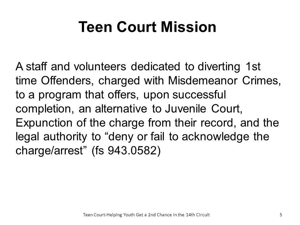 Misdemeanor offenders teen court is — pic 14