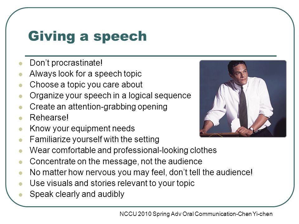 speech on don t procrastinate