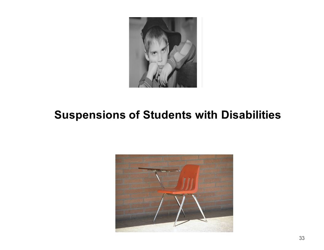 33 Suspensions of Students with Disabilities
