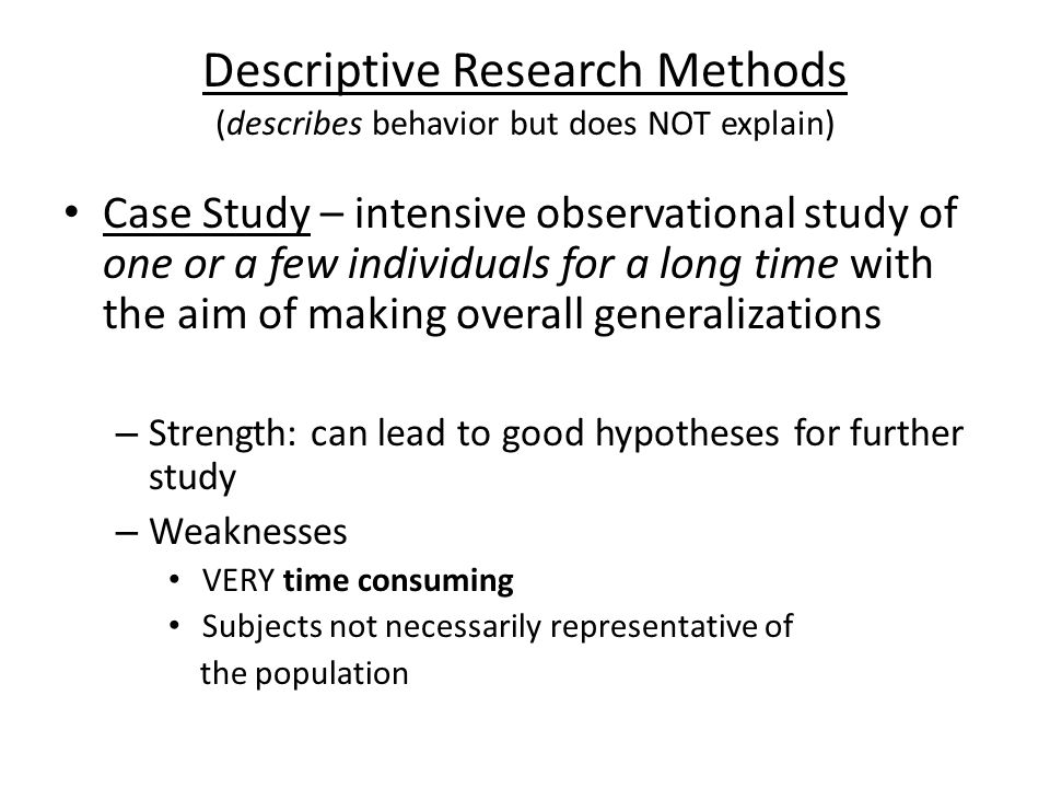Hypothesis based research
