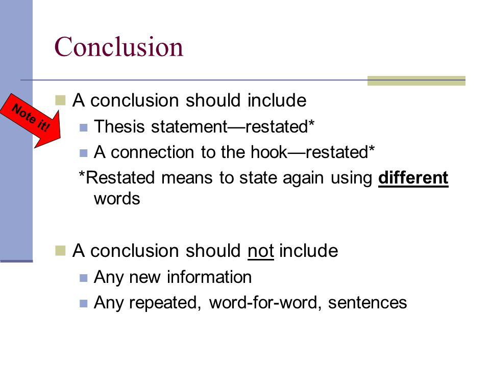 what should you include in a thesis statement