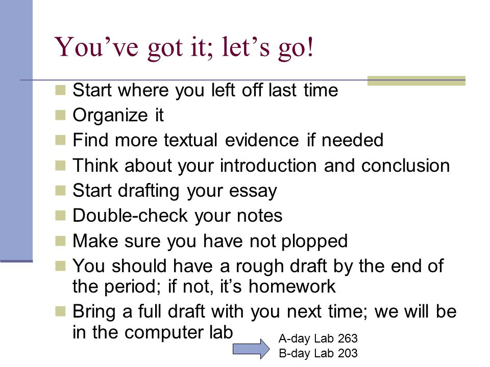 Ways to start off an essay
