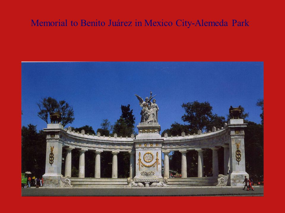 Memorial to Benito Juárez in Mexico City-Alemeda Park