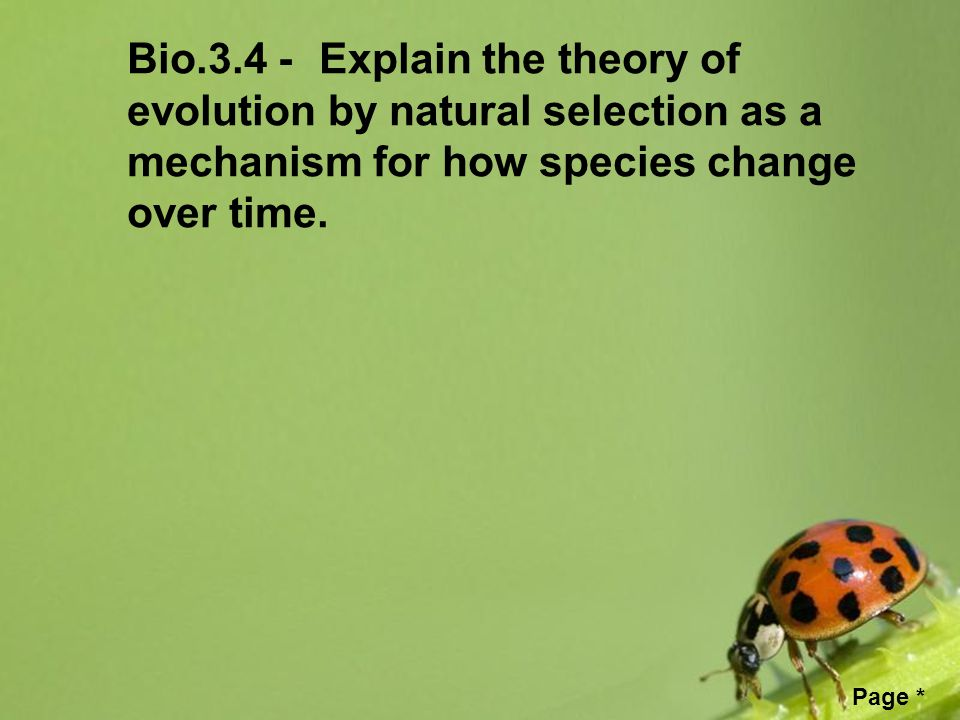 Free powerpoint templates page free powerpoint templates eoc 2 free powerpoint templates page bio34 explain the theory of evolution by natural selection as a mechanism for how species change over time toneelgroepblik Images