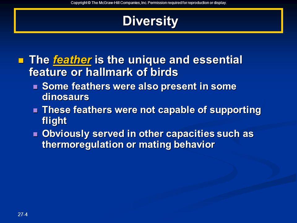 27-1 CHAPTERCHAPTER Birds Birds. Copyright © The McGraw-Hill ...