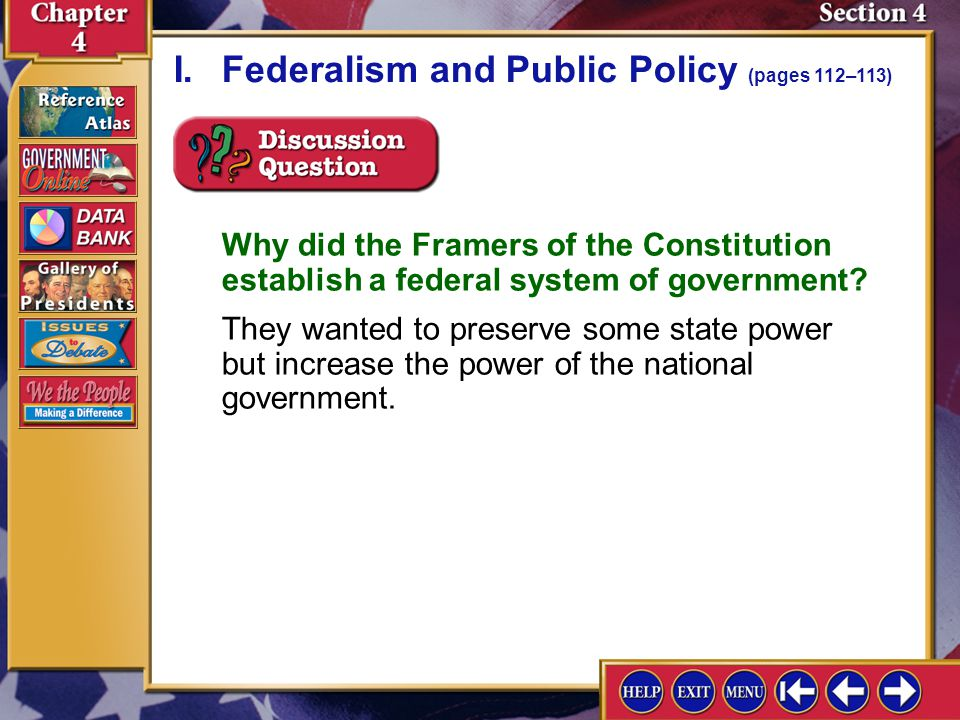 What are two states that practice federalism?