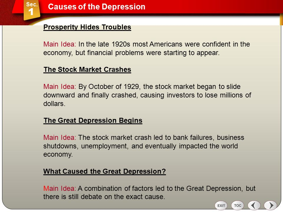 What Were the Causes of the Great Depression?