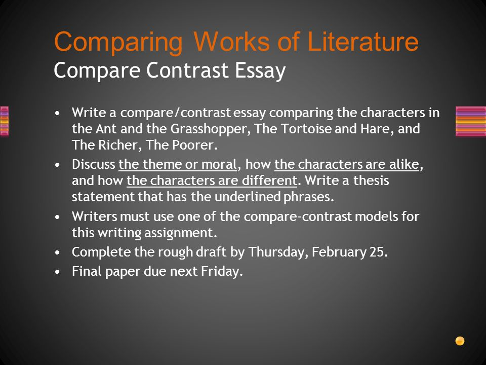 Compare And Contrast Thesis Statement