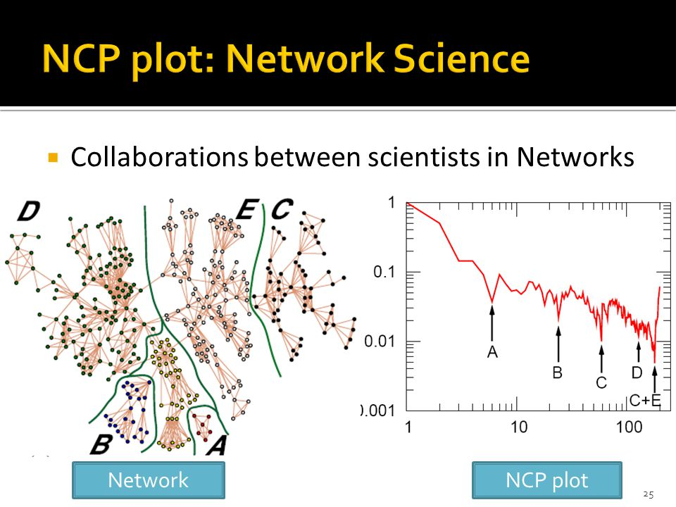  Collaborations between scientists in Networks NCP plotNetwork 25