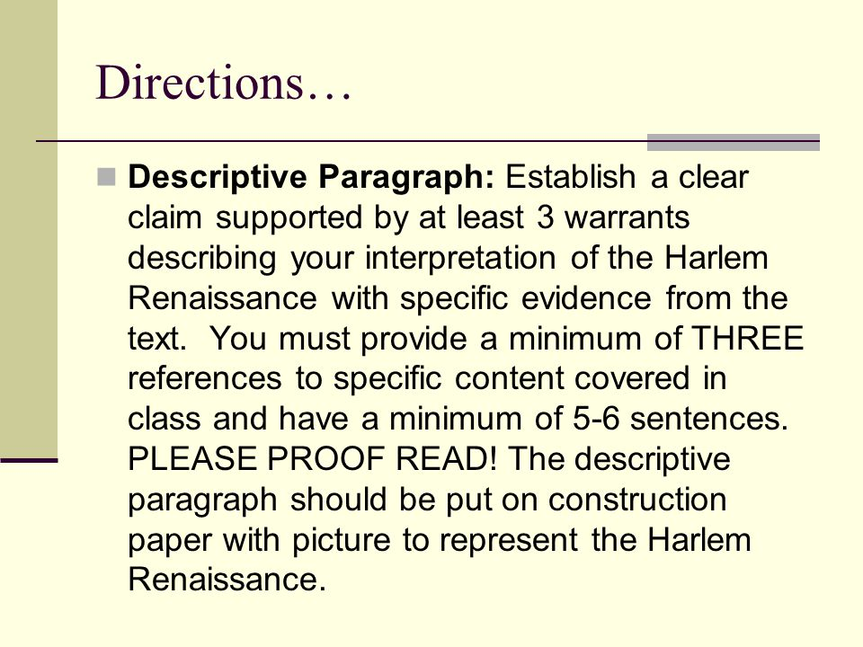 harlem renaissance 3 essay The harlem renaissance movement 3 pages 729 words february 2015 saved essays save your essays here so you can locate them quickly.