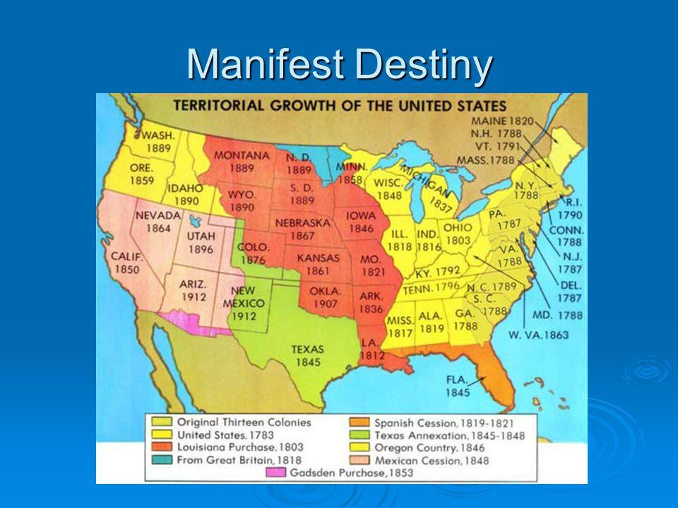 Manifest Destiny Objective Define Manifest Destiny And List - Us manifest destiny map
