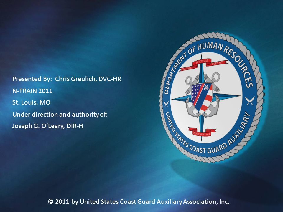 © 2011 by United States Coast Guard Auxiliary Association, Inc.