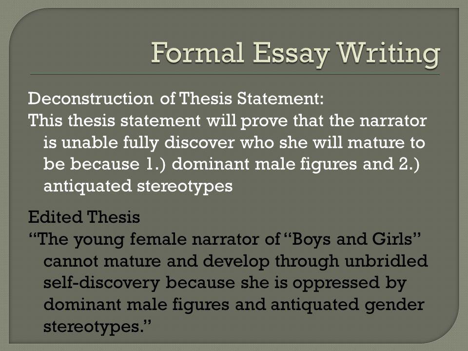 1984 deconstruction essay literature