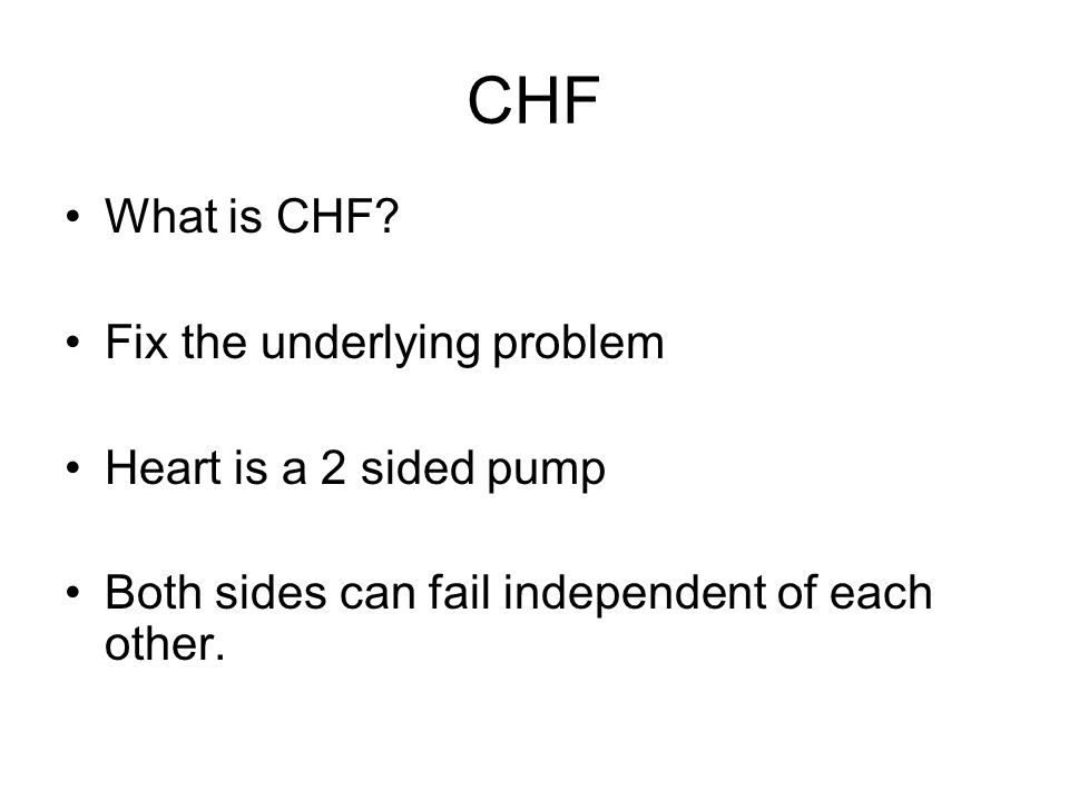 CHF What is CHF.