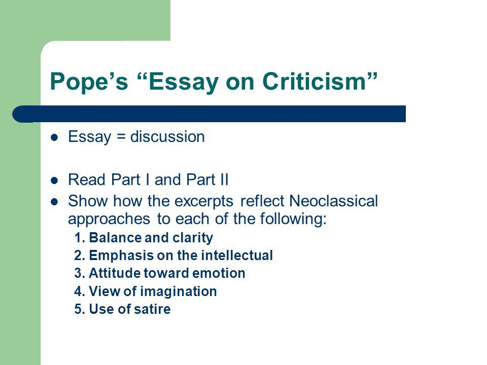 Pope essay on criticism