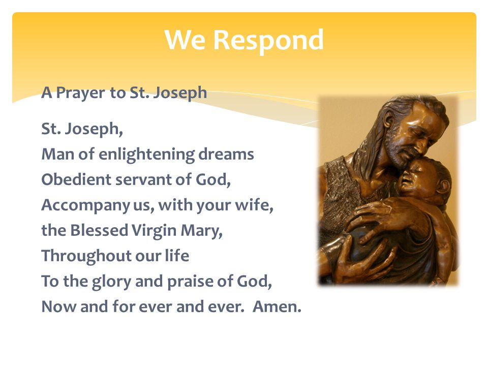 A Prayer to St. Joseph St.