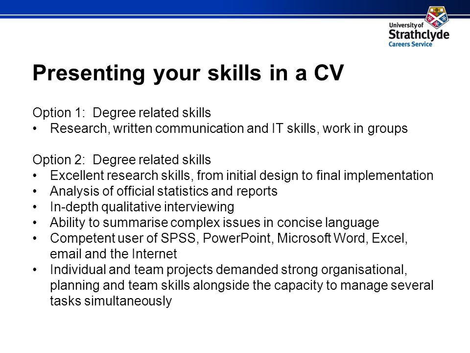 11 presenting your skills in a cv