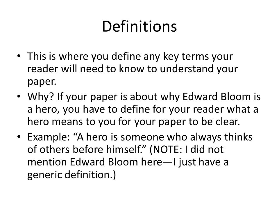 Define A Hero Essay