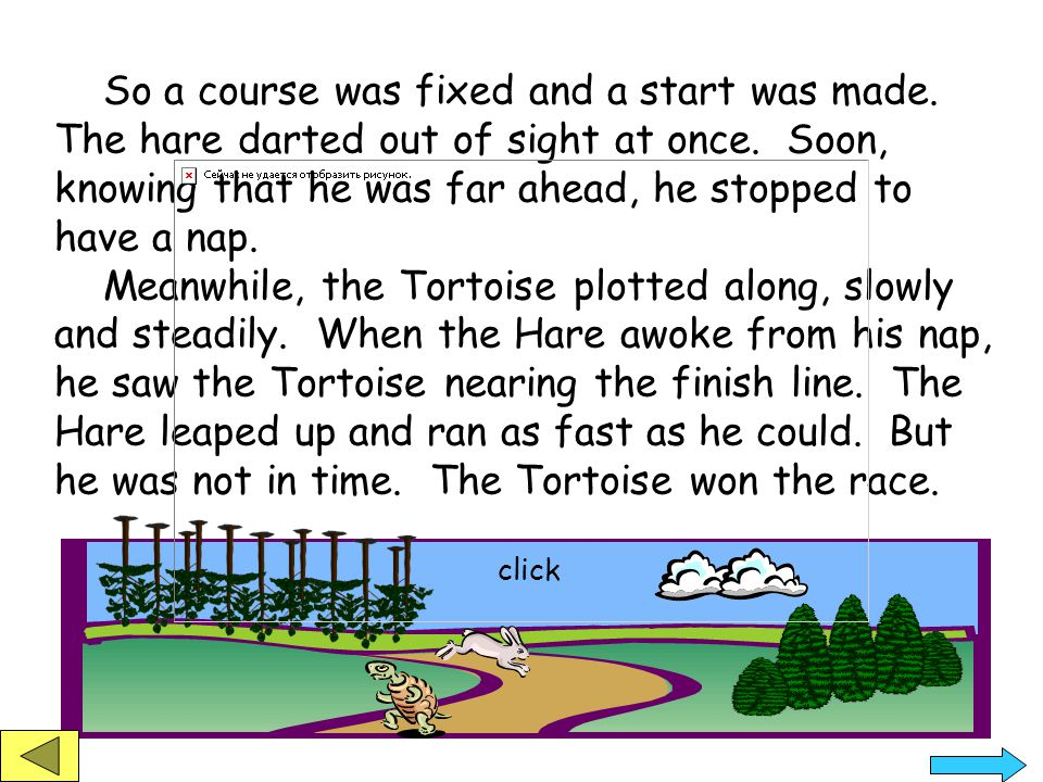 The Hare and the Tortoise by Aesop The hare was once boasting of his speed before the other animals.