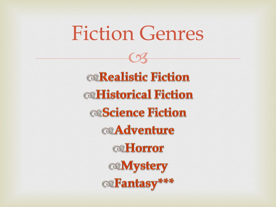  Fiction Genres