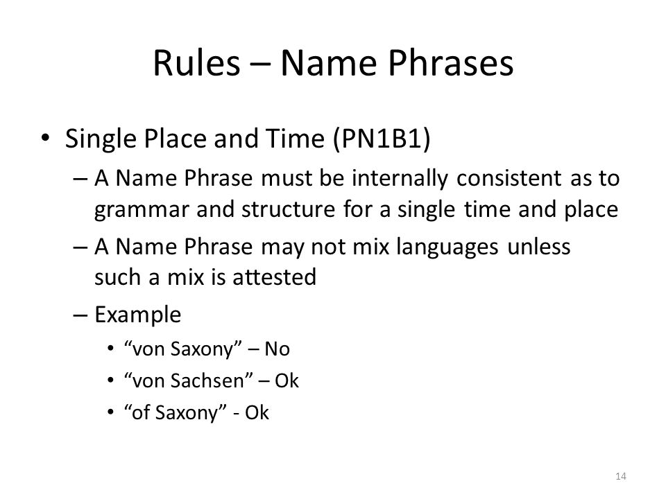 the rule of names Capitalization rules  capitalize    1 the first word of a sentence example 2 proper nouns names of relatives (to indicate family relationship) when used with name.
