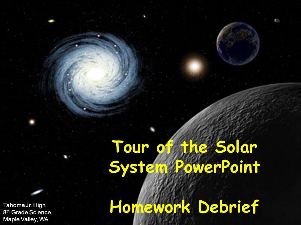 Solar system homework