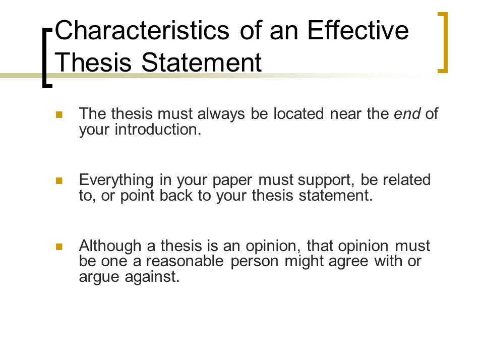 purpose vs thesis statement