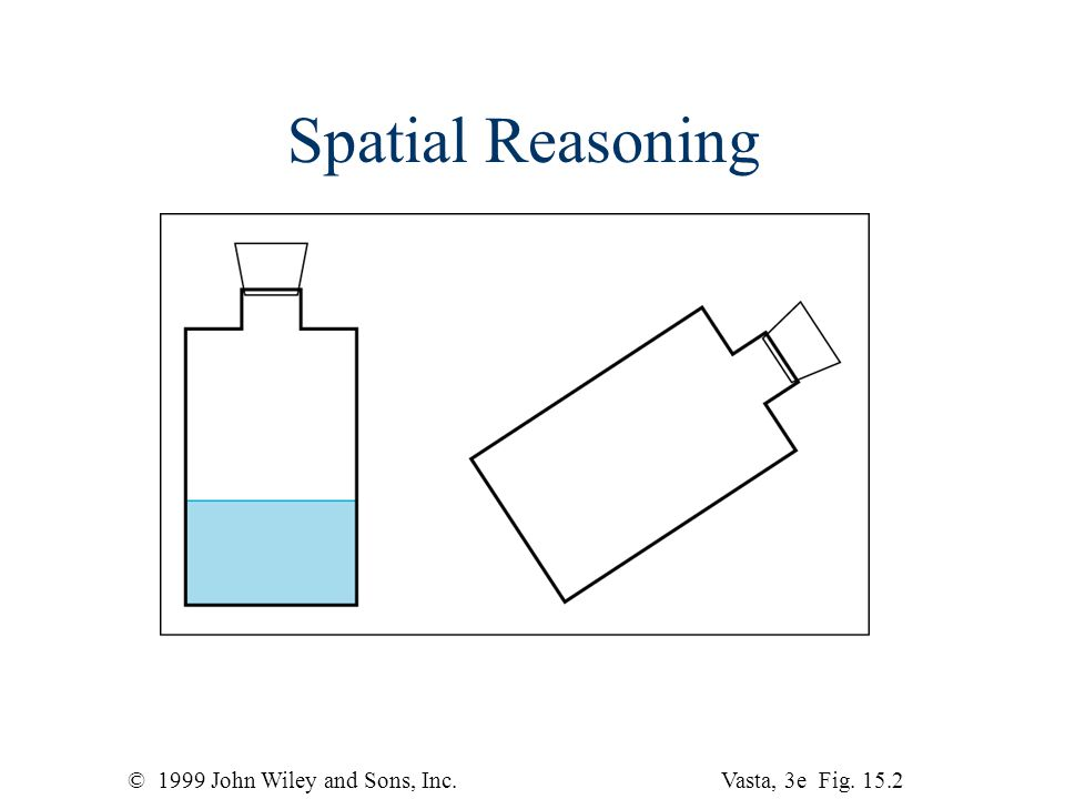 © 1999 John Wiley and Sons, Inc.Vasta, 3e Fig Spatial Reasoning