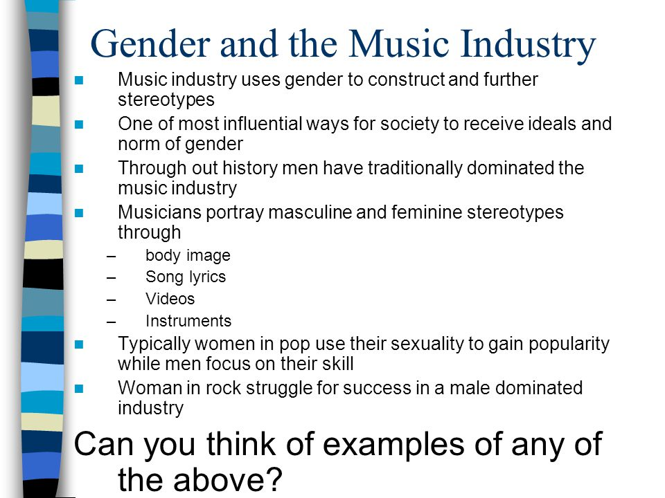 The Portrayal of Woman… …in Pop Music. Who is pop music aimed at ...