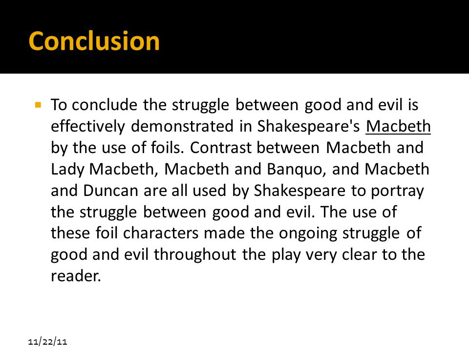 good and evil essay conclusion