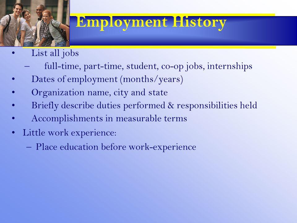 Resume' Objectives Explain The Purpose Of A Résumé –Potential