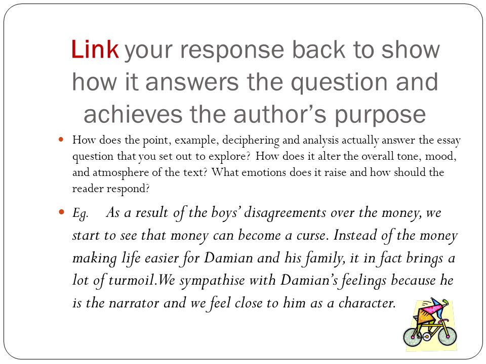 the purpose of writing a question/answer essay is