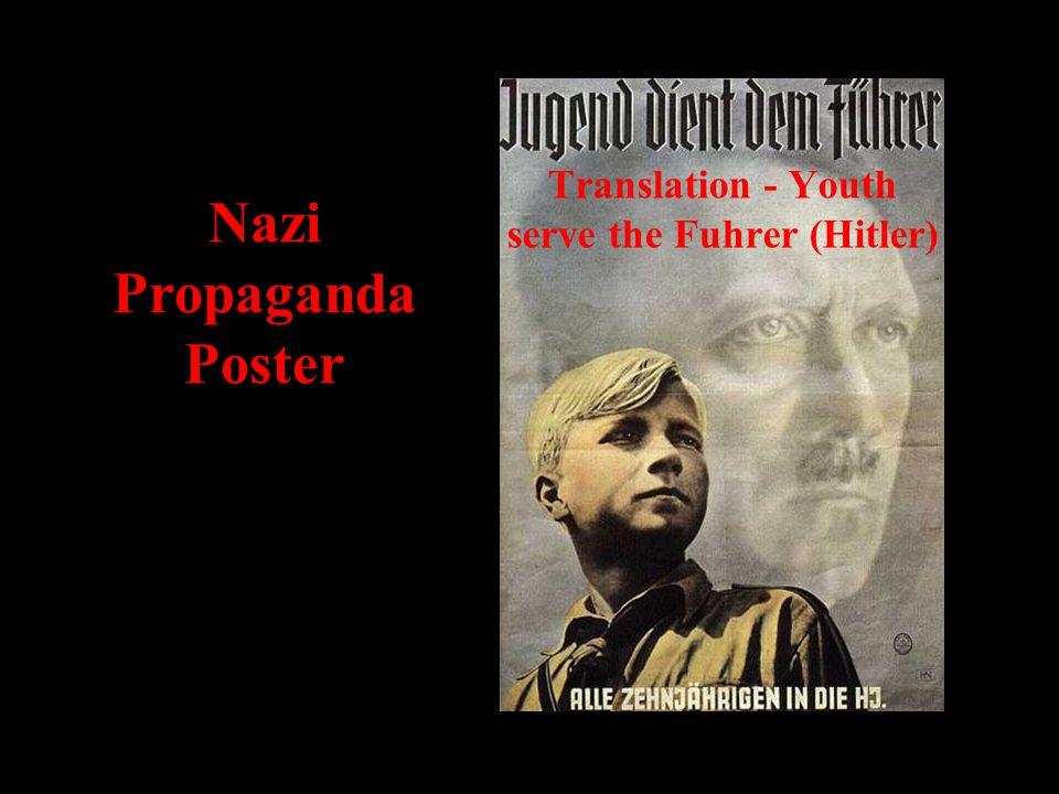 Nazi Propaganda Poster Translation - Youth serve the Fuhrer (Hitler)