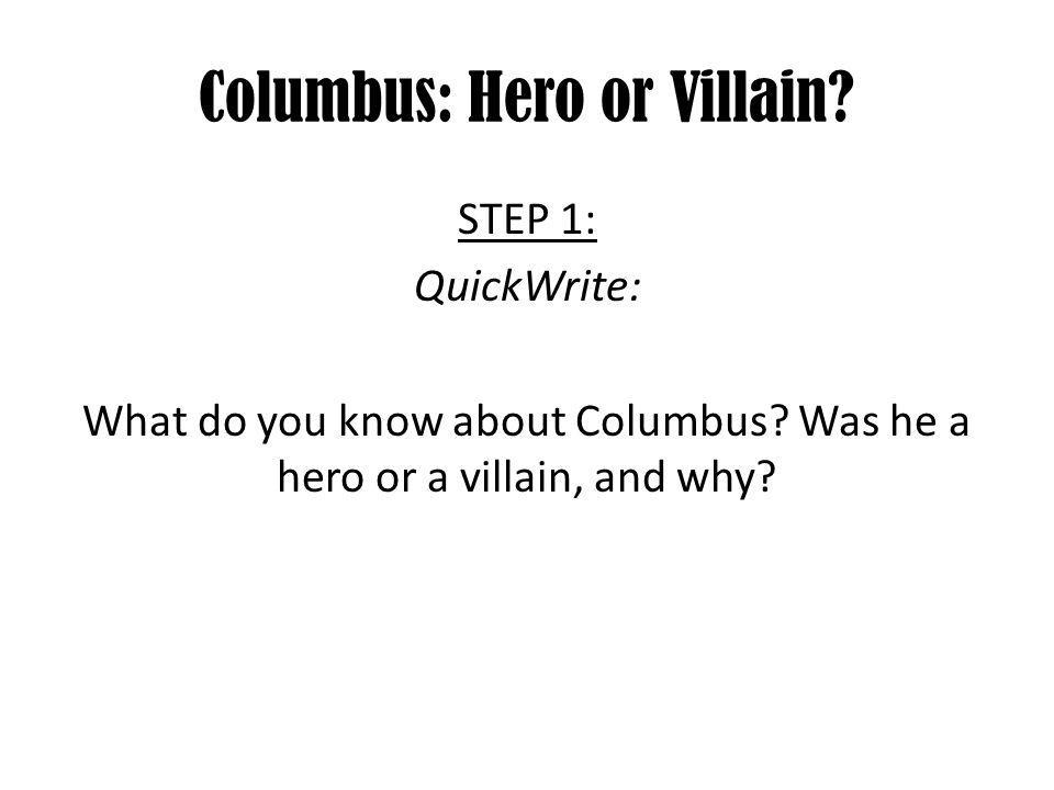 Villain Essay