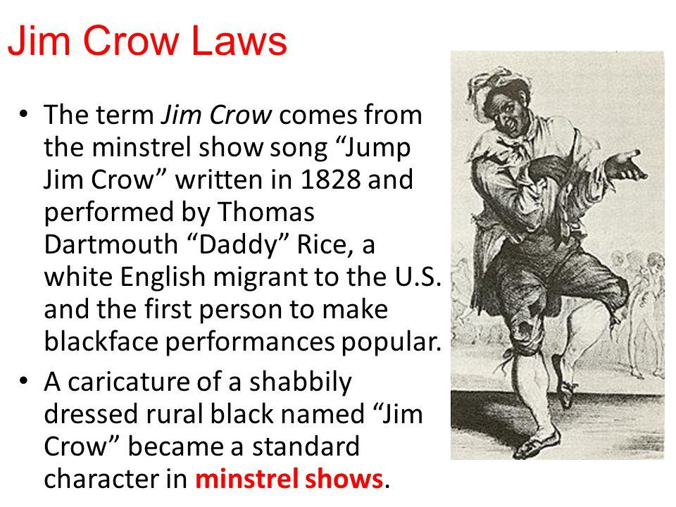 jim crow laws dbq Define segregation and explain what jim crow laws did.