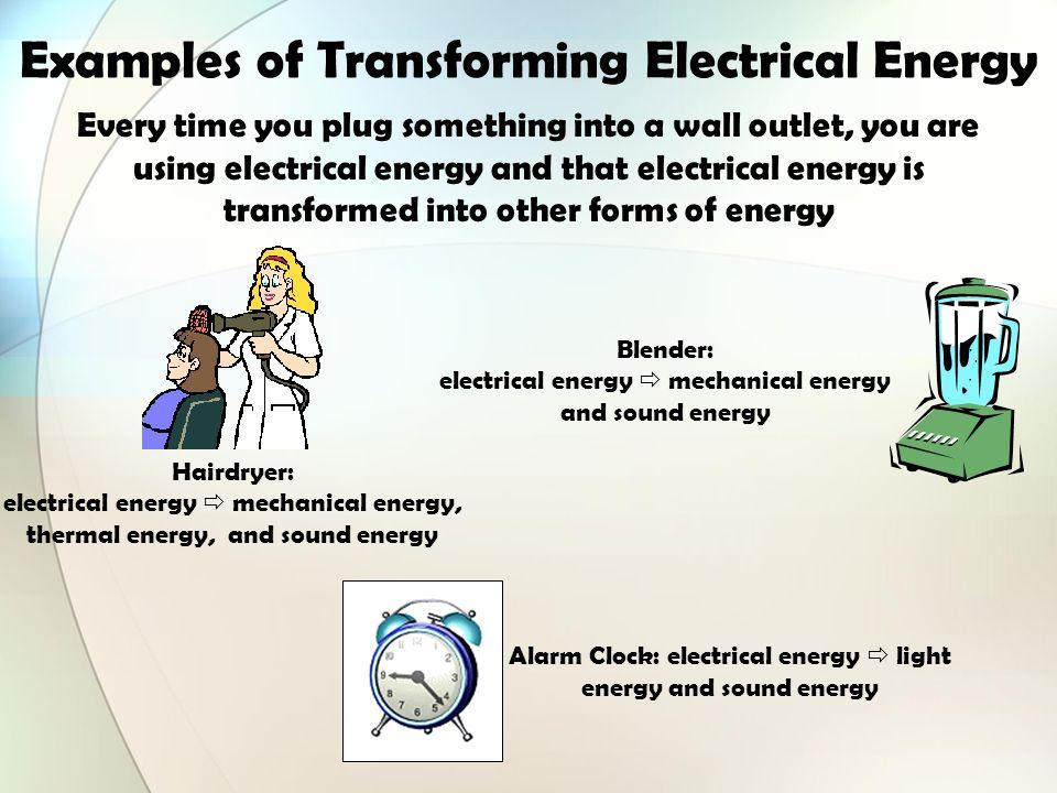 Energy Transformation Examples 7547 | RIMEDIA