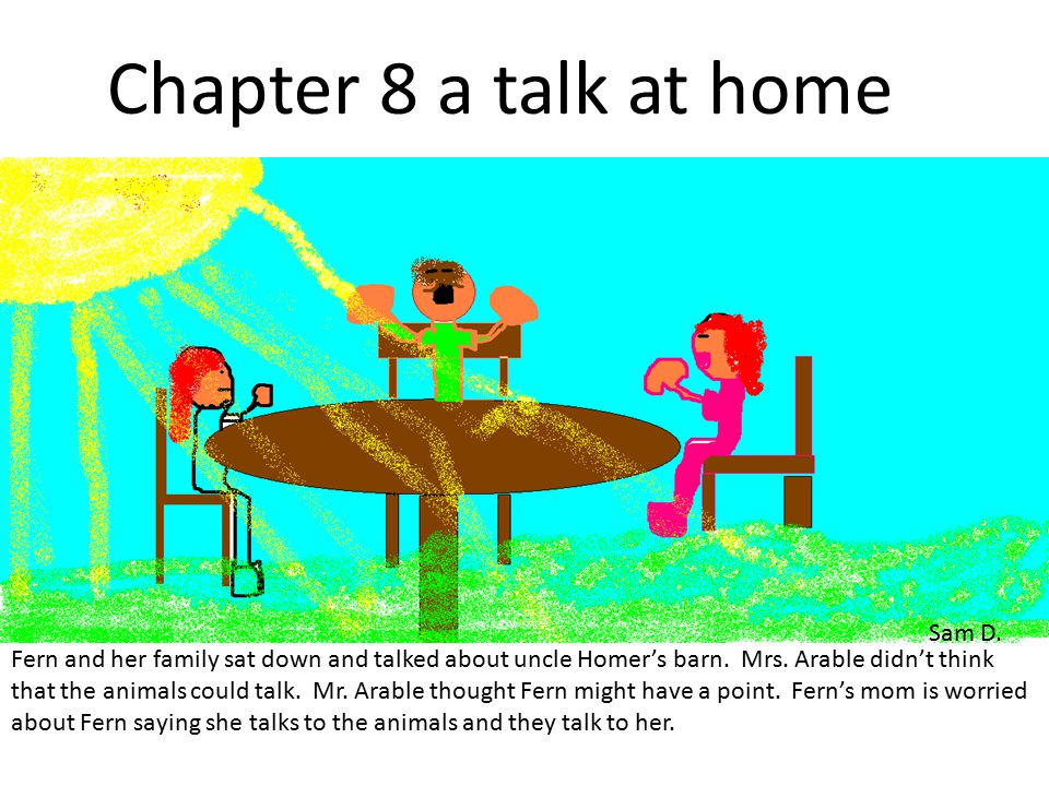 Chapter 7 is when Wilbur finds out he is going to die.