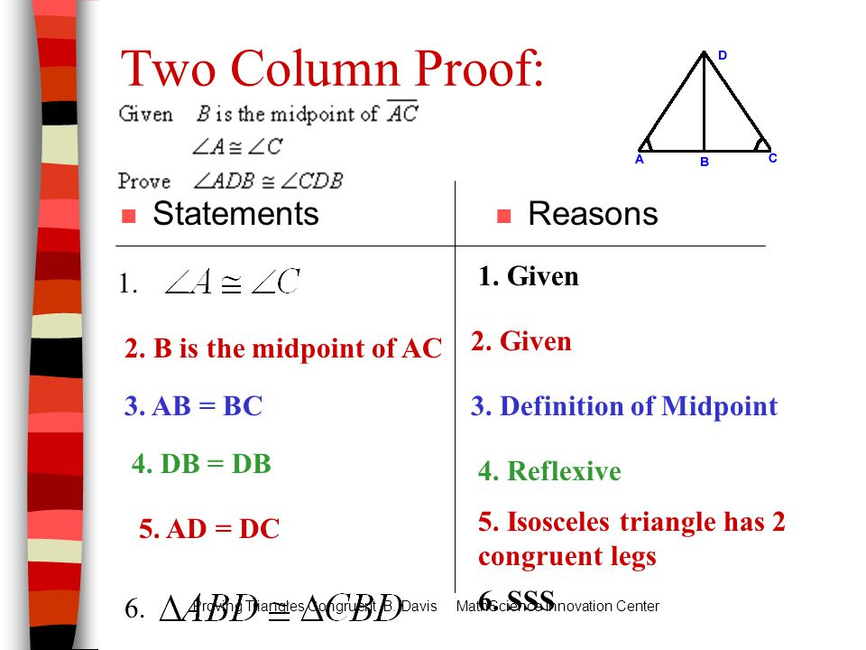 Sss and sas two-column proofs by ally tarwater - november 12, 2014 online, sat, tutor, tutoring, education
