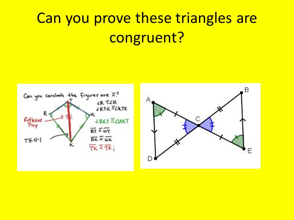 Can you prove these triangles are congruent