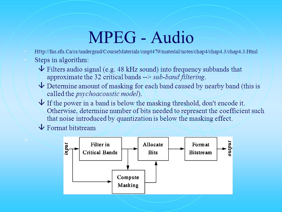 MPEG Layers â MPEG defines 3 layers for audio.