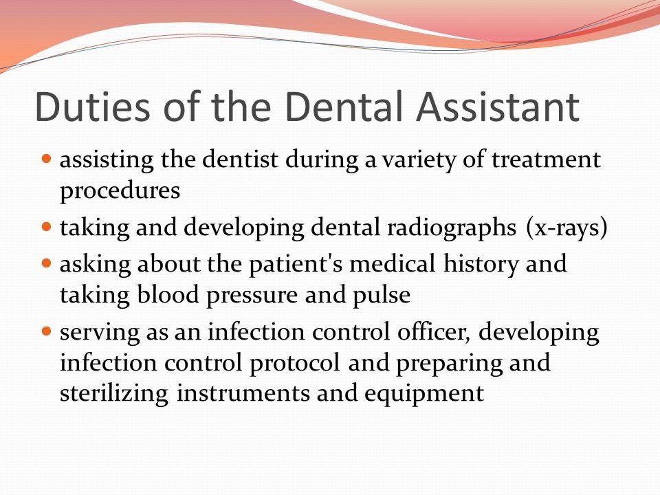 dental assisting duties