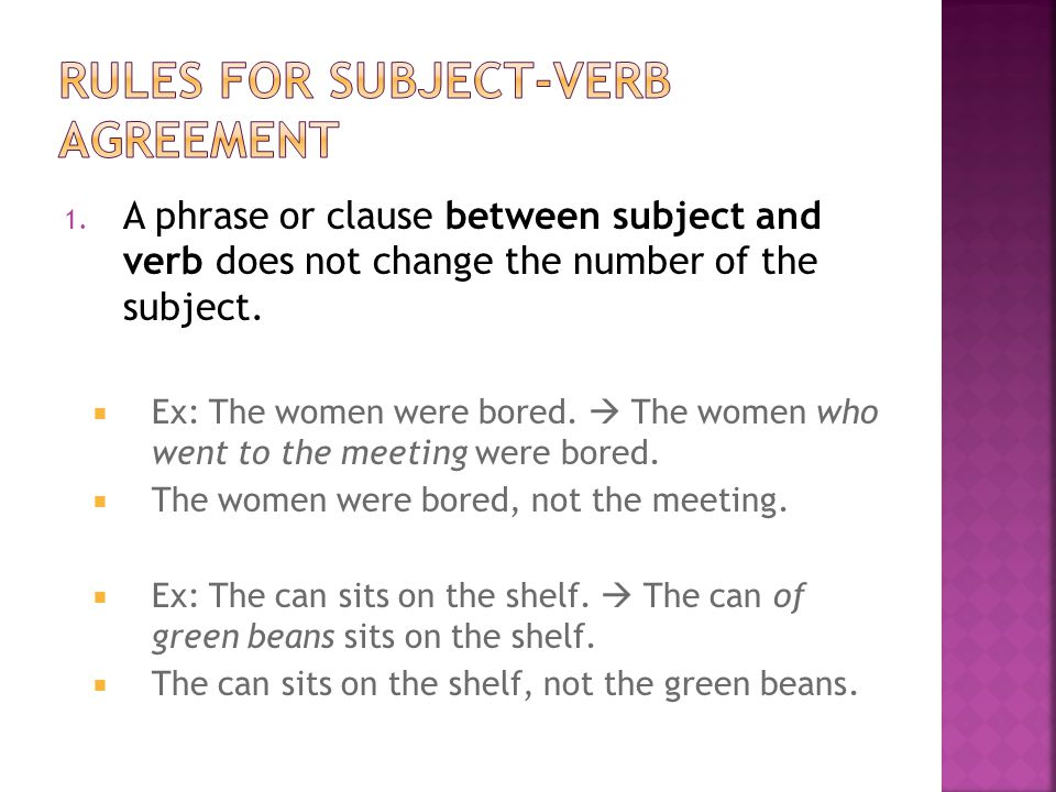 2.Indefinite Pronouns as subjects:  Singular indefinite pronoun subjects take singular verbs.
