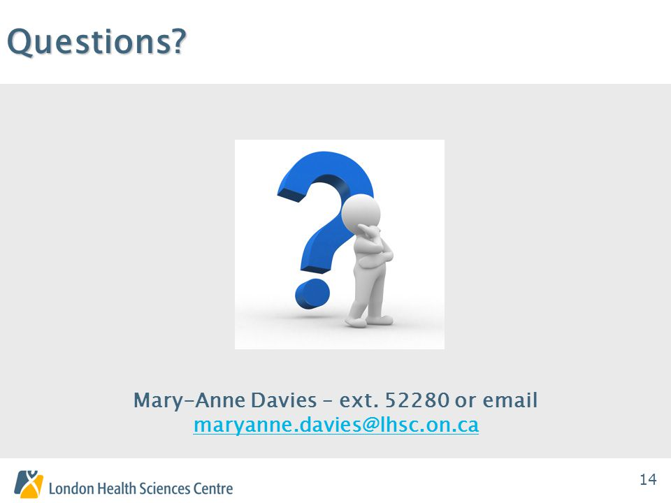 14Questions. Mary-Anne Davies – ext.