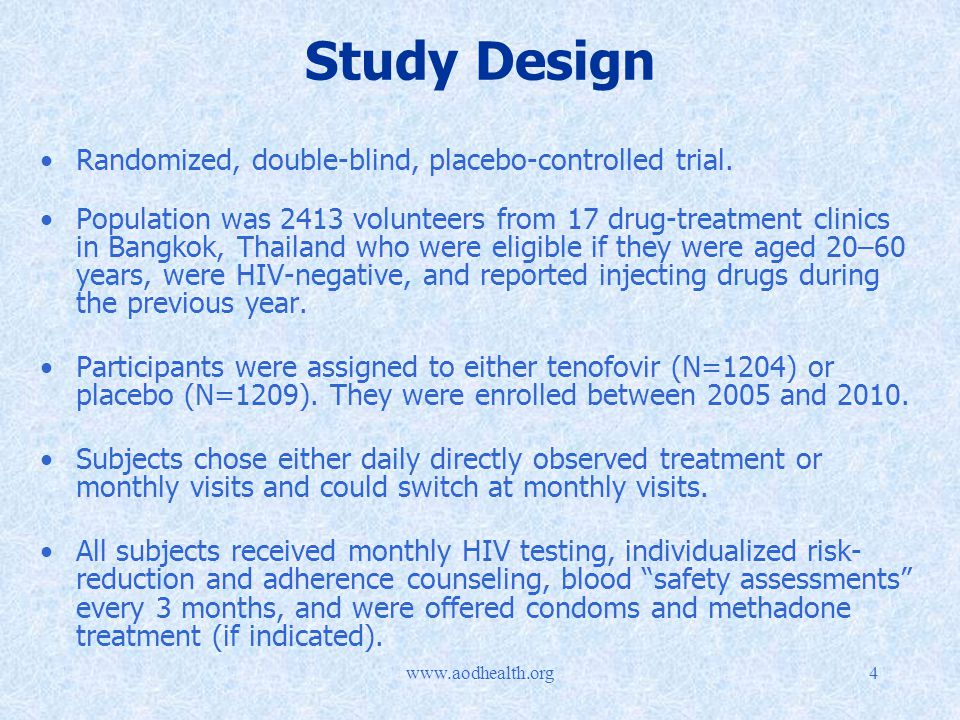 4 Study Design Randomized, double-blind, placebo-controlled trial.