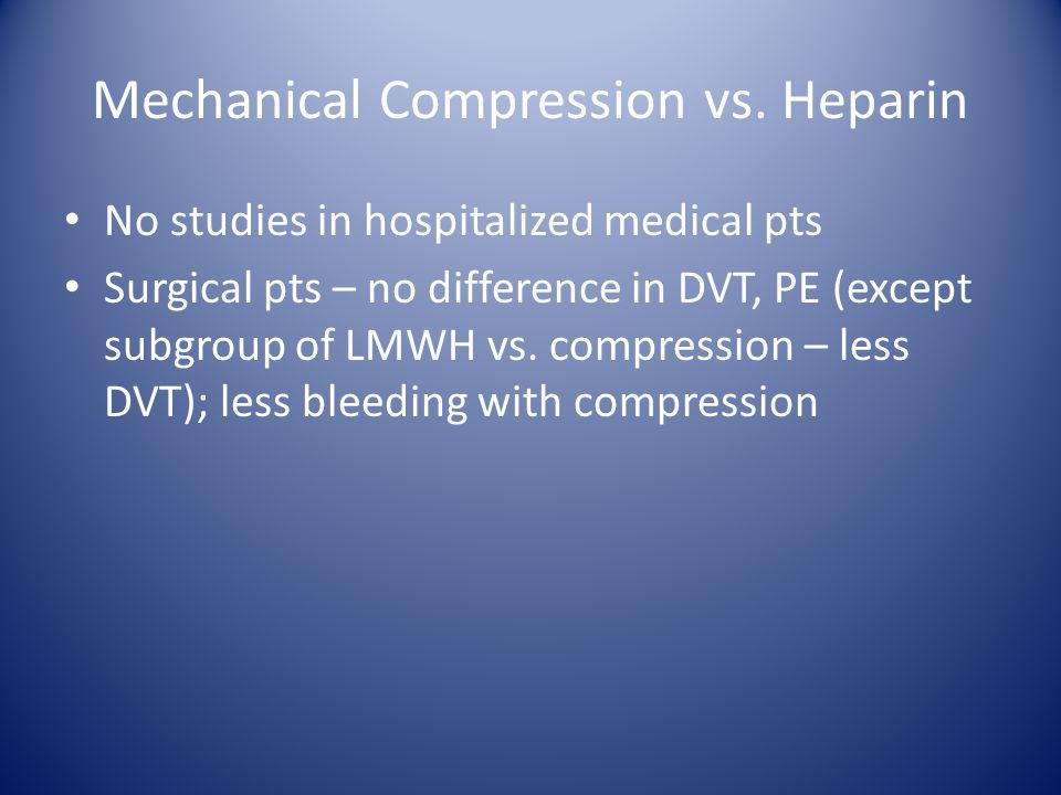 Mechanical Compression vs.
