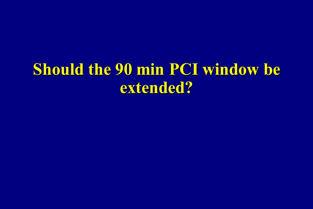 Should the 90 min PCI window be extended